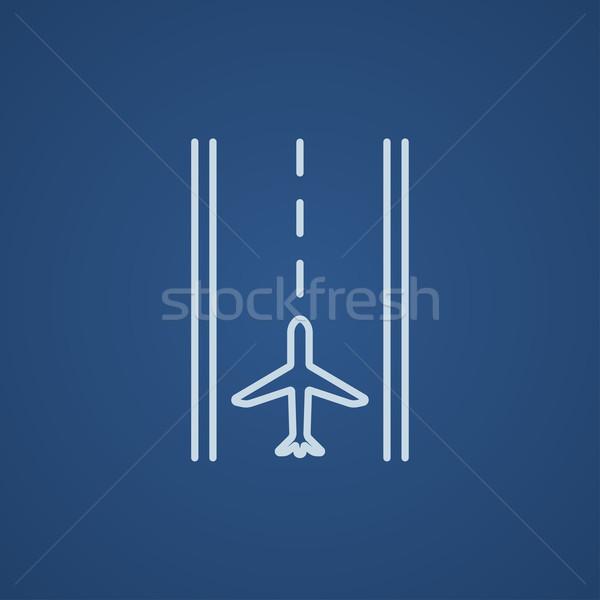 аэропорту ВПП линия икона веб мобильных Сток-фото © RAStudio