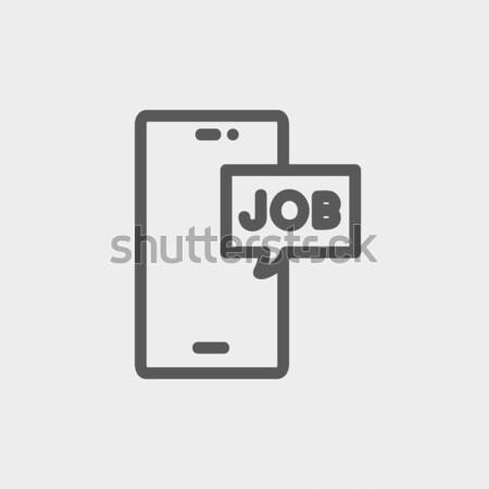 Tela sensível ao toque telefone mensagem linha ícone teia Foto stock © RAStudio