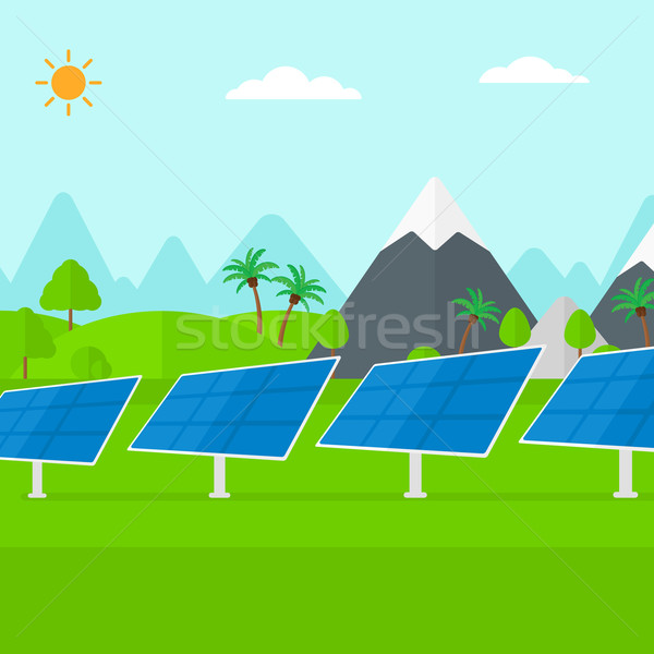 Background of solar power station in the mountain. Stock photo © RAStudio