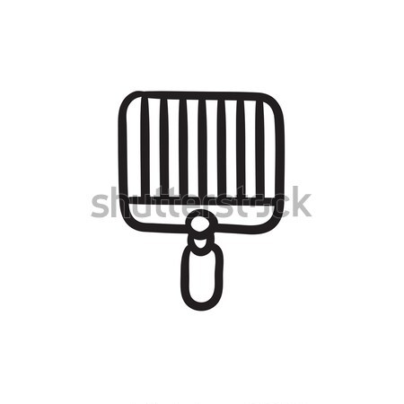 Empty barbecue grill grate line icon. Stock photo © RAStudio