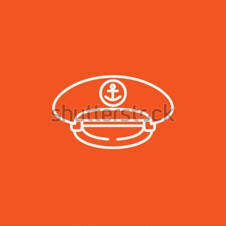 Cap lijn icon web mobiele infographics Stockfoto © RAStudio