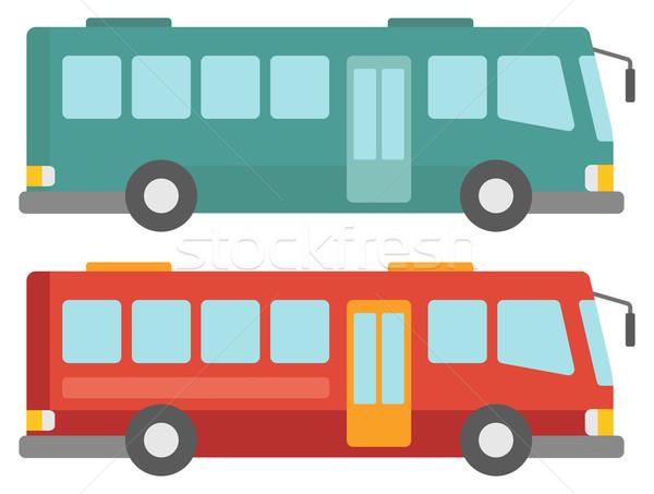 Side view of two city buses. Stock photo © RAStudio