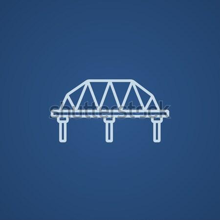 Trilho maneira ponte linha ícone Foto stock © RAStudio