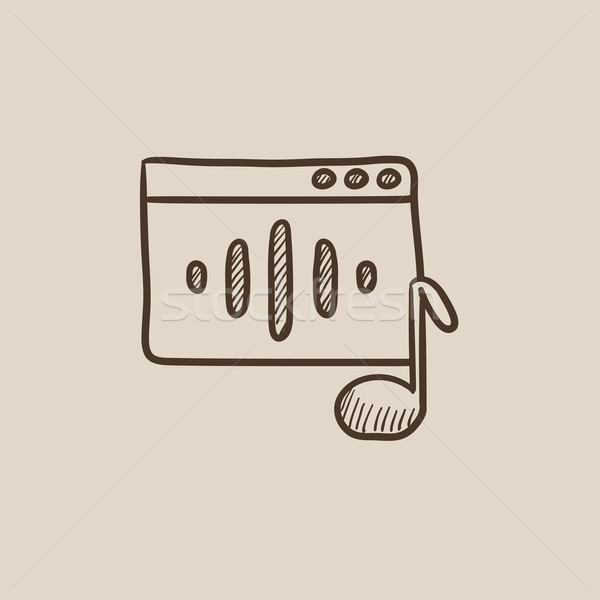 Radio sketch icon. Stock photo © RAStudio