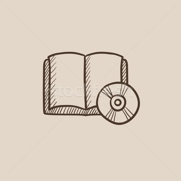Cd disk kroki ikon web hareketli Stok fotoğraf © RAStudio
