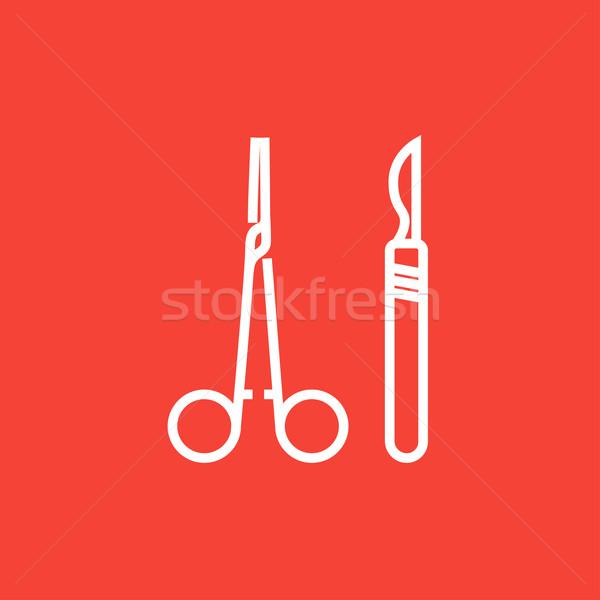 Cirúrgico linha ícone médico bisturi Foto stock © RAStudio