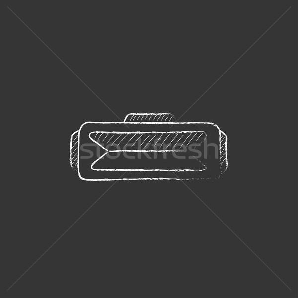 виртуальный реальность гарнитура мелом икона Сток-фото © RAStudio