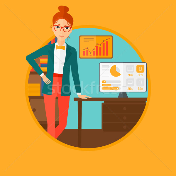 Stockfoto: Vrouw · business · presentatie · zakenvrouw