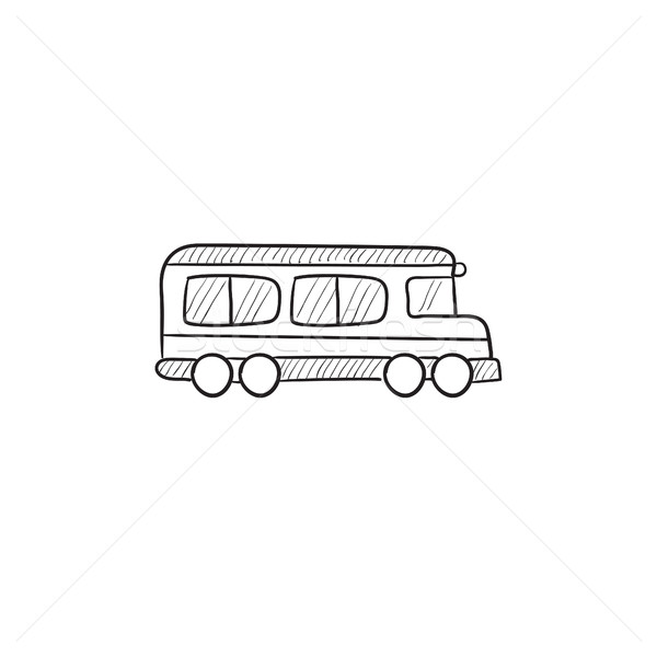 bus sketch icon vector illustration andrei krauchuk