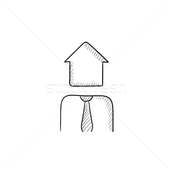 Esboço ícone vetor isolado Foto stock © RAStudio