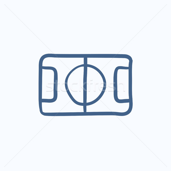 Stadio layout sketch icona vettore isolato Foto d'archivio © RAStudio