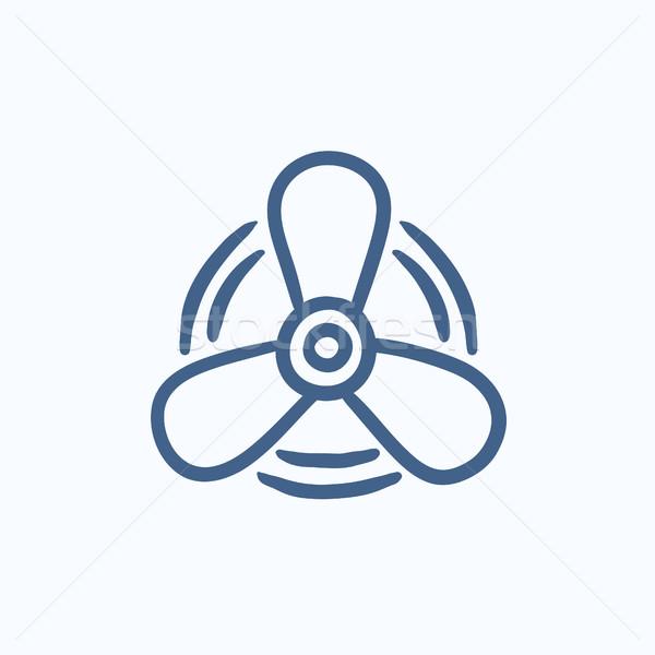 Boat propeller sketch icon. Stock photo © RAStudio