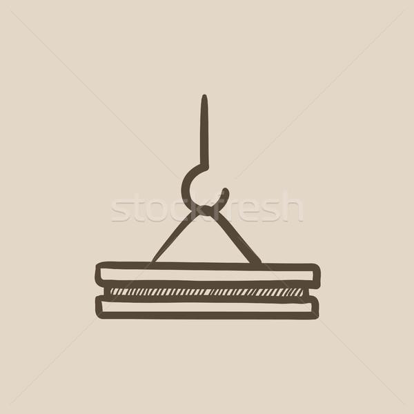 Gru gancio sketch icona vettore isolato Foto d'archivio © RAStudio
