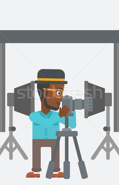 фотограф рабочих камеры фото студию Сток-фото © RAStudio