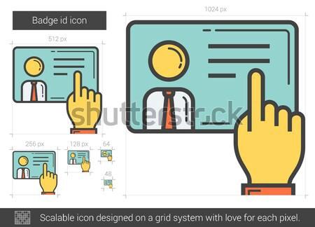 Badge id line icon. Stock photo © RAStudio