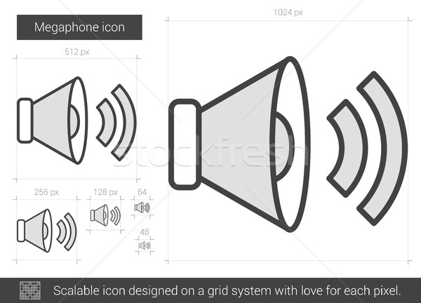 Megaphone line icon. Stock photo © RAStudio