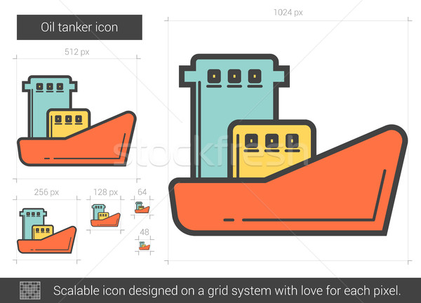 Oil tanker line icon. Stock photo © RAStudio