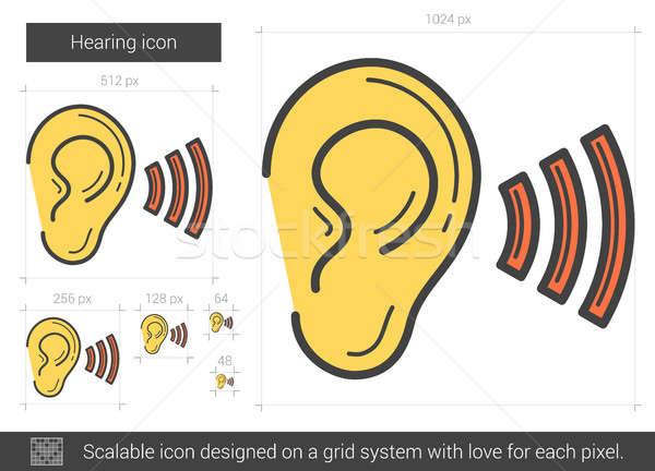 Hearing line icon. Stock photo © RAStudio