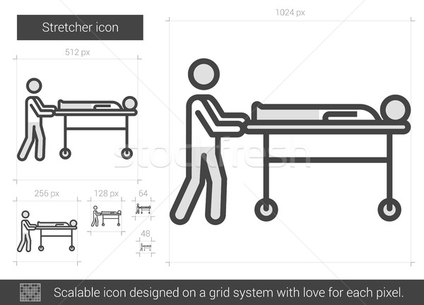 Stretcher line icon. Stock photo © RAStudio