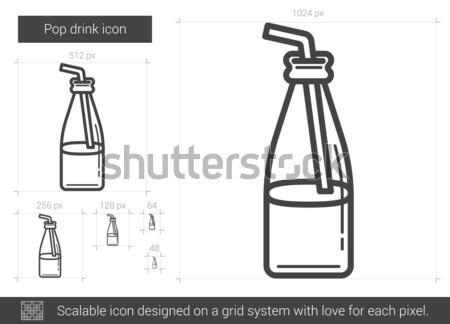 Pop drink line icon. Stock photo © RAStudio