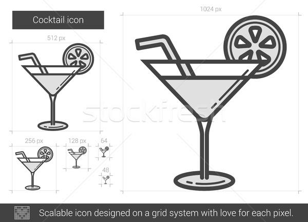 Cocktail line icon. Stock photo © RAStudio