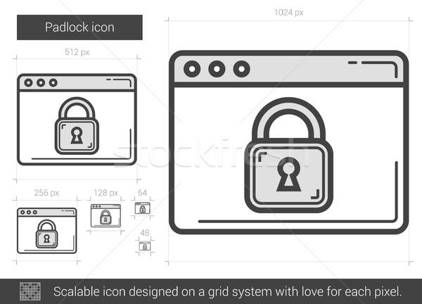 Padlock line icon. Stock photo © RAStudio