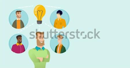 Businessmen discussing business ideas. Stock photo © RAStudio