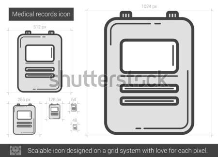 Medizinischen Datensätze line Symbol Vektor isoliert Stock foto © RAStudio