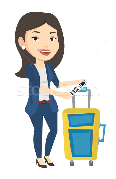 白人 ビジネス女性 荷物 タグ 女性 ストックフォト © RAStudio