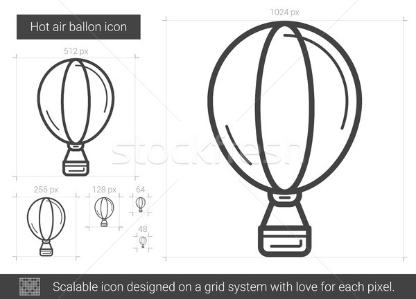 Hot air balloon line icon. Stock photo © RAStudio