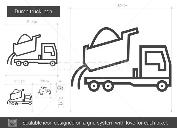 Dump truck line icon. Stock photo © RAStudio