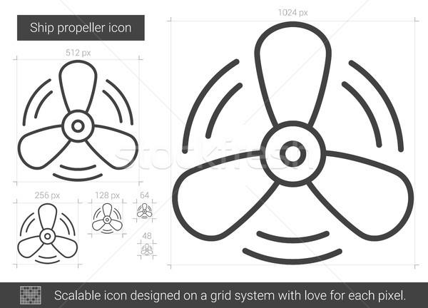Ship propeller line icon. Stock photo © RAStudio