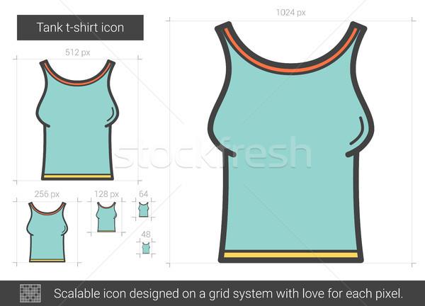 Tanque camiseta línea icono vector aislado Foto stock © RAStudio