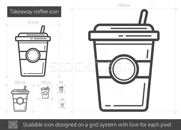 Takeaway coffee line icon. Stock photo © RAStudio