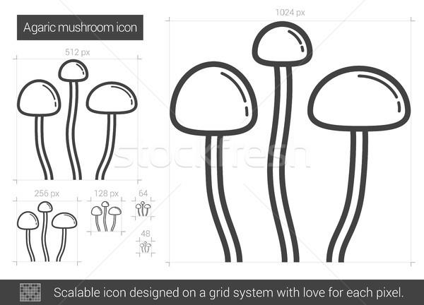 Agaric mushroom line icon. Stock photo © RAStudio