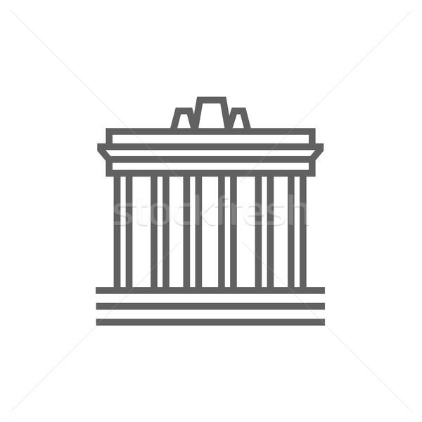 Acrópole Atenas linha ícone teia Foto stock © RAStudio