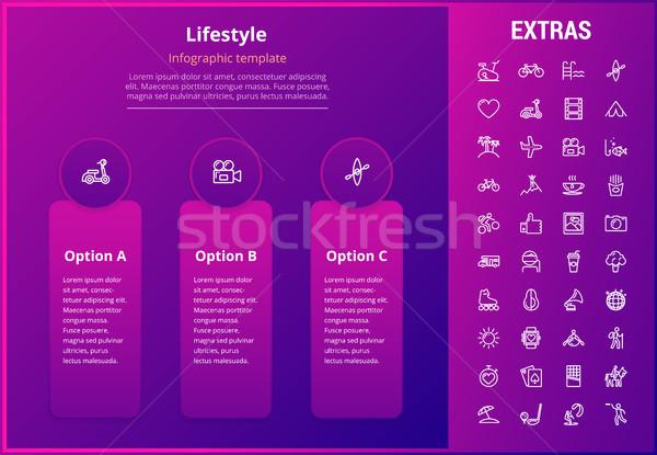 Lifestyle infographic template, elements and icons Stock photo © RAStudio