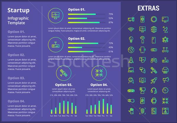 Avvio infografica modello elementi icone personalizzabile Foto d'archivio © RAStudio