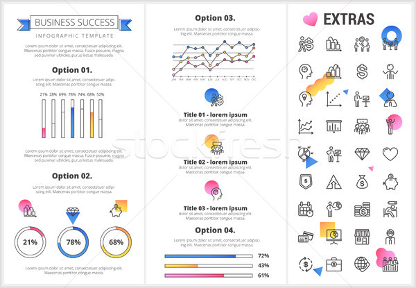 Business infographic template and elements. Stock photo © RAStudio
