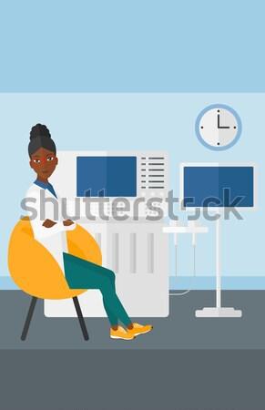 Stock fotó: Férfi · szenvedés · fogászati · szék · fiatal · beteg