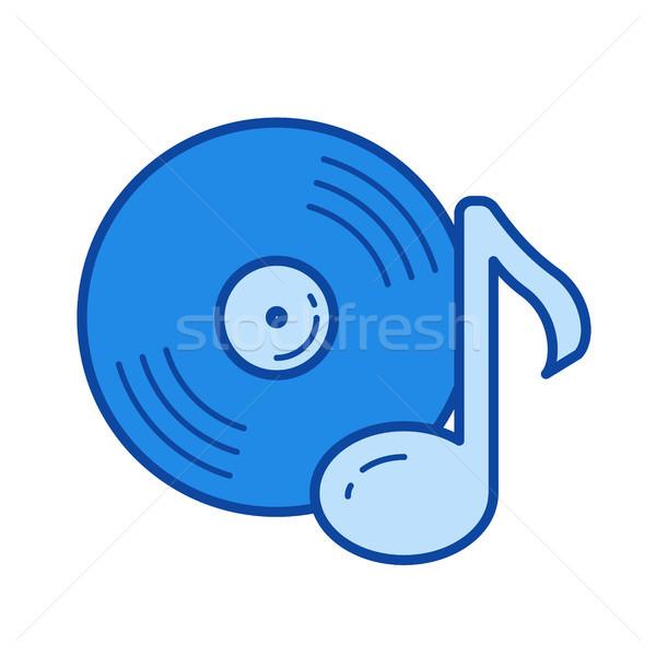 ビニール レコード 行 アイコン ベクトル 孤立した ストックフォト © RAStudio