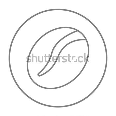 Kávébab kézzel rajzolt rajz ikon vektor skicc Stock fotó © RAStudio