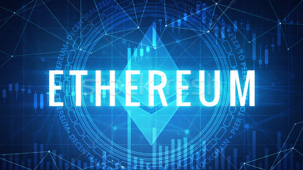 Ethereum symbol on futuristic hud banner. Stock photo © RAStudio
