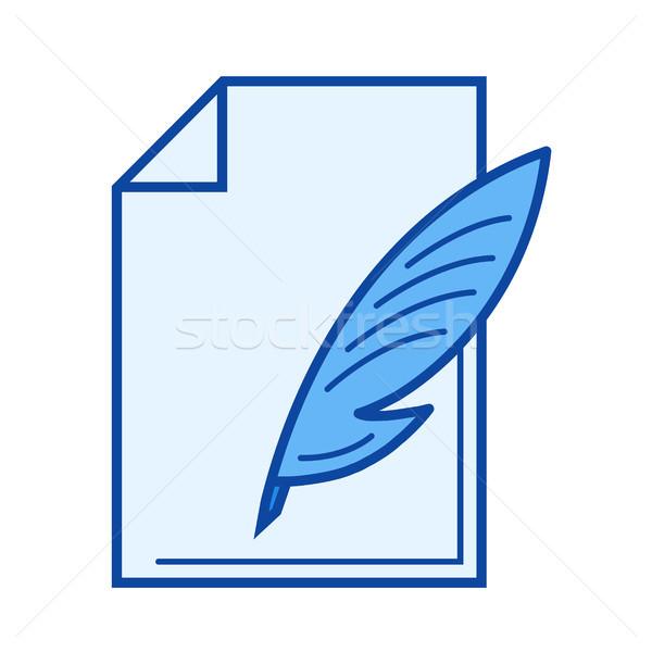 Write document line icon. Stock photo © RAStudio