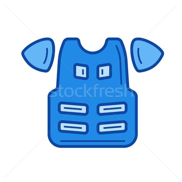 Motorcycle accessories line icon. Stock photo © RAStudio