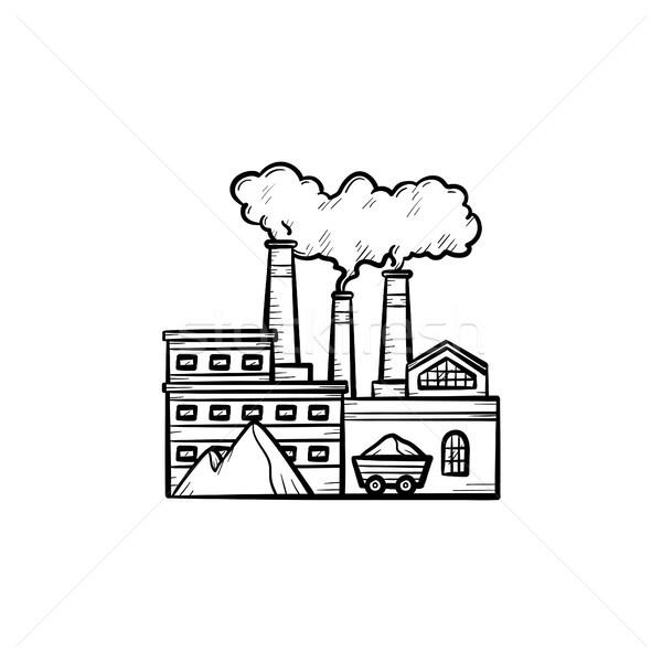 Factory hand drawn sketch icon. Stock photo © RAStudio