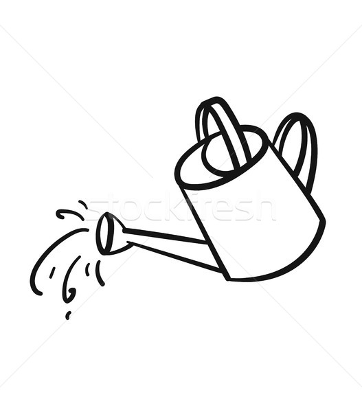 Watering can hand drawn sketch icon. Stock photo © RAStudio