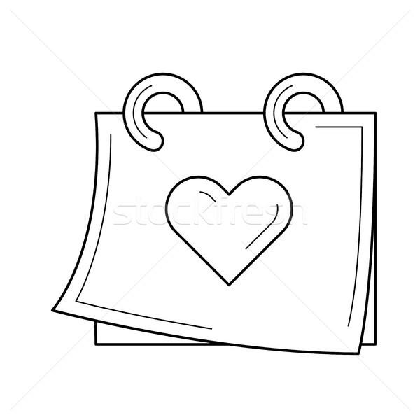 Wedding day vector line icon. Stock photo © RAStudio
