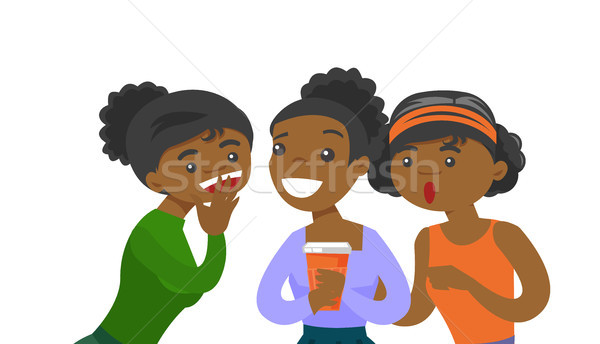 Young african-american women sharing gossips. Stock photo © RAStudio