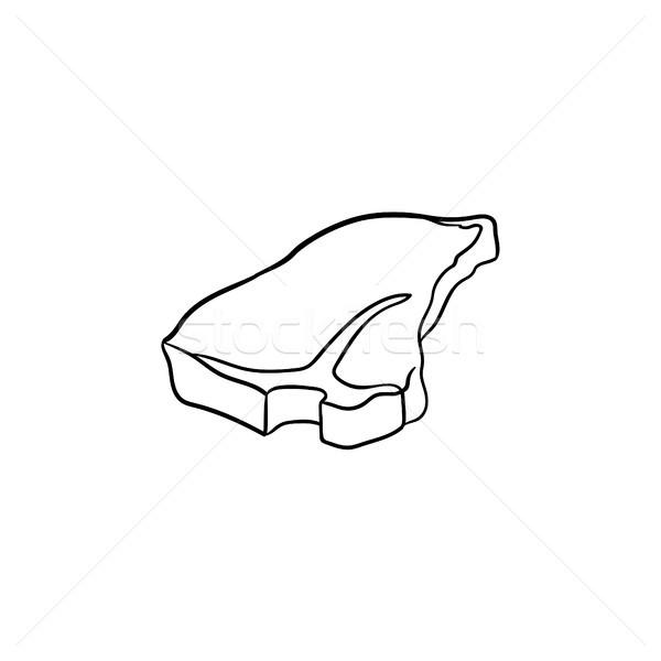 Biefstuk schets icon schets doodle Stockfoto © RAStudio